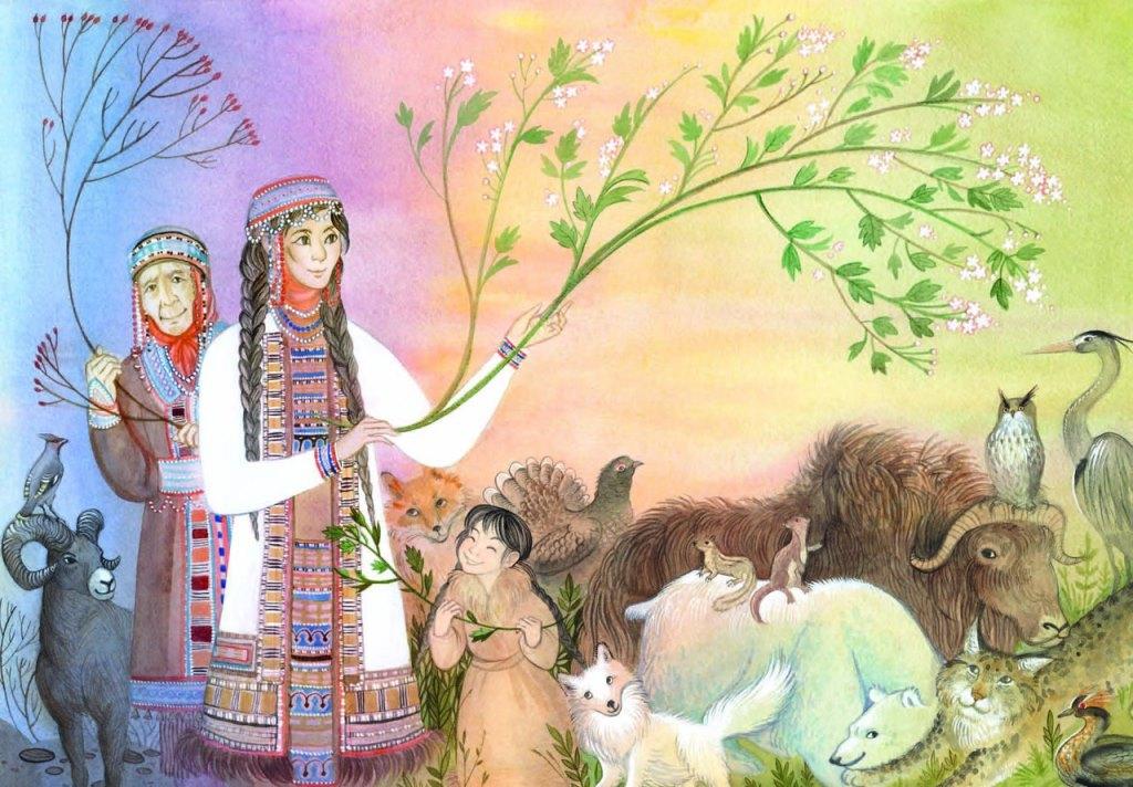 Утро, открытки народов севера